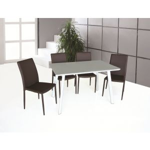 B24 Dining Table & DC13 Dining Chairs (Chocolate)