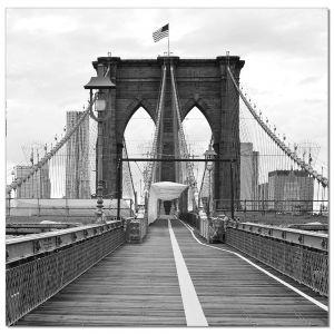 Premium Acrylic Wall Art Brooklyn Bridge Flag - SH-71598B