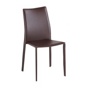 C031B Modern Dining Chair Brown, Set of 4