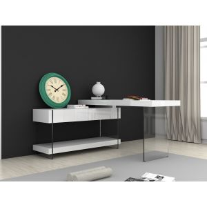 Cloud Office Desk, White
