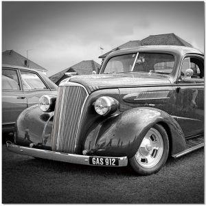 Premium Acrylic Wall Art Classic Car - SB-61297C