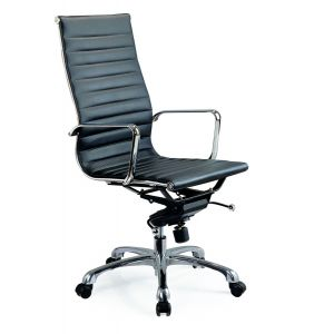 Comfy High Back Office Chair, Black