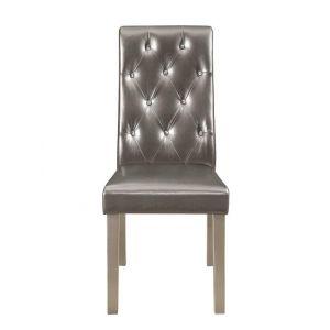 D27DC Dining Chair Metalic Grey, Set of 2