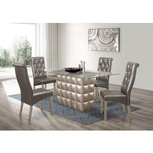 D3975DT W/ D27DC Dining Set, Metallic Grey