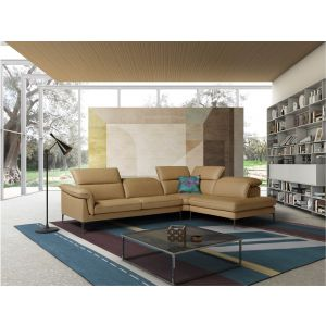 Eden Premium Leather Sectional, Right Hand Chase
