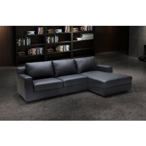 Elizabeth Premium Leather Sleeper Sectional, Right Hand Chase