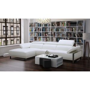 Fleurier Premium Leather Sectional, Left Hand Chase