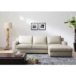 Jenny Premium Leather Sleeper Sectional , Right Hand Chase