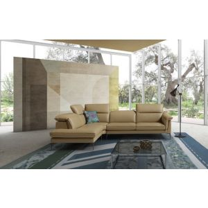 Eden Premium Leather Sectional, Left Hand Chase