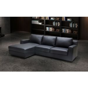 Elizabeth Premium Leather Sleeper Sectional, Left Hand Chase