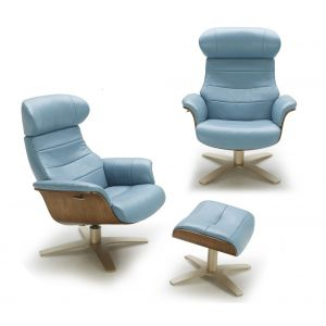 The Karma Lounge Chair, Blue