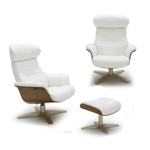 The Karma Lounge Chair, White