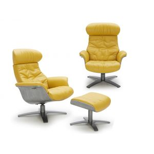 The Karma Lounge Chair, Mustard