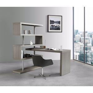 KD002 Modern Office Desk, Matte Grey
