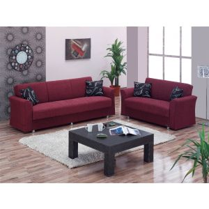 Ohio Living Room Set, Red