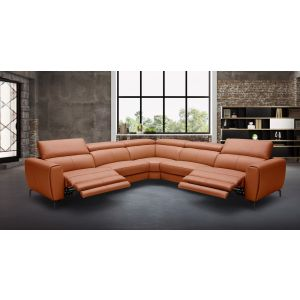 Lorenzo Italian Motion Sectional, Rust