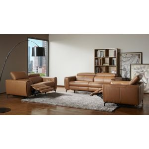 Lorenzo Motion Living Room Set, Caramel