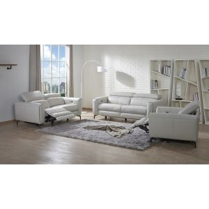 Lorenzo Motion Living Room Set, Light Grey