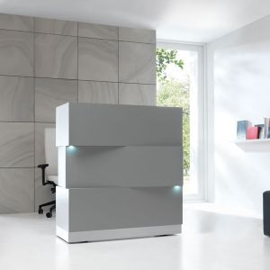 ZEN Reception Desk, Grey