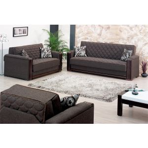 Oregon Living Room Set, Brown