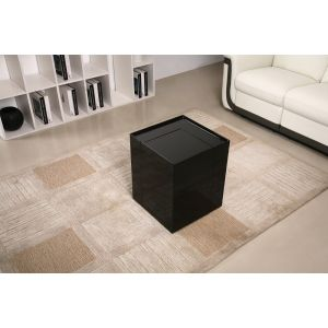 P205B End Table/Mini Bar, Black High Gloss