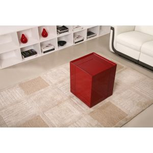 P205B End Table/Mini Bar, Red High Gloss