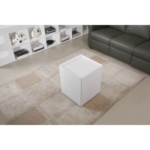 P205B End Table/Mini Bar, White High Gloss