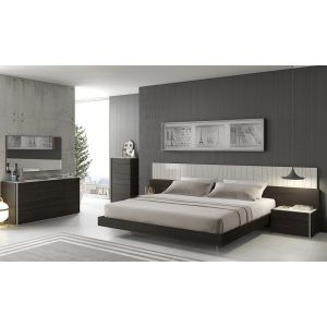 Porto Bedroom Set, Light Grey/Wenge