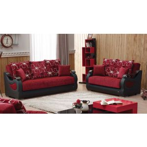Pittsburgh Living Room Set, Red
