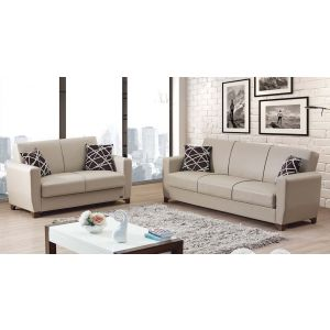 Yonkers Living Room Set, Beige