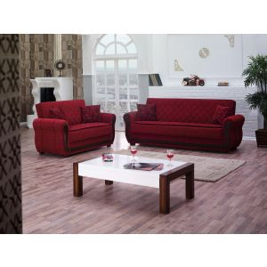 Park Ave Living Room Set, Red