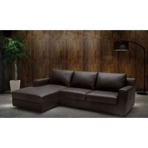 Taylor Premium Leather Sleeper Sectional, Left Hand Chase
