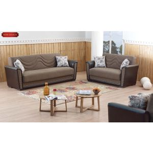 Toronto Living Room Set, Brown