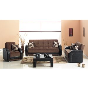 Utica Living Room Set, Brown