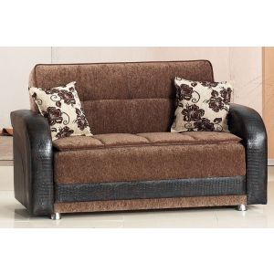 Utica Loveseat, Brown