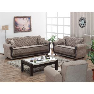 Newark Living Room Set, Beige