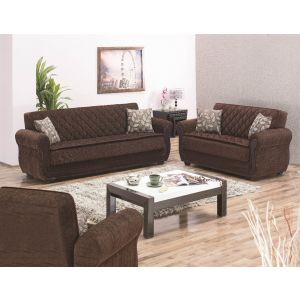 Sunrise Living Room Set, Brown