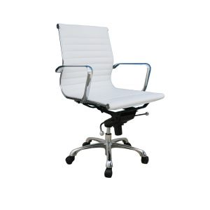 Comfy Low Back Office Chair, White