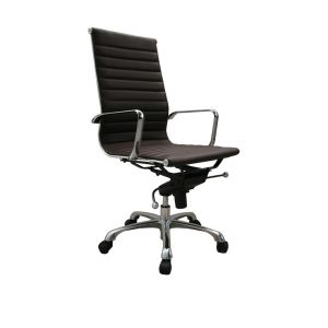 Comfy High Back Office Chair, Brown