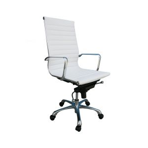 Comfy High Back Office Chair, White