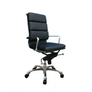 Plush High Back Office Chair, Black