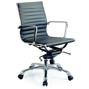 Comfy Low Back Office Chair, Black